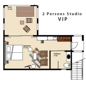 Map of 2 Persons Studio Vip - klein